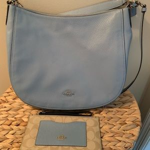 Coach pebble leather purse and wallet